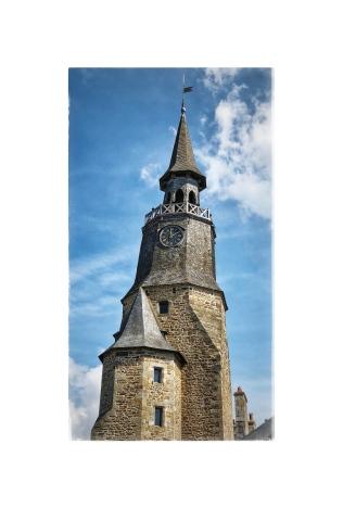 Breton church clock tower roof