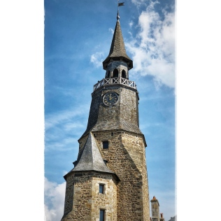 Breton church clock tower roof